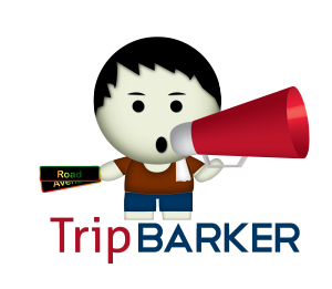 tripbarkerlogo megaphone and text copy